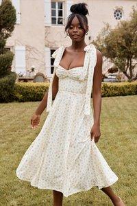 2020 nouvelle arrivée citron imprimé floral amp; blush femmes sundress midi rose plage de vacances femmes robe robe d'été 8290