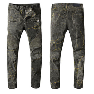 2021 mens jeans denim ripped jeans for men skinny broken Italy style hole bike motorcycle hot rock New Arrivals Hip Hop ripped jeans