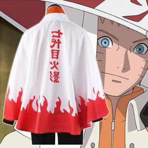 Anime Cosplay Costumes Seventh Hokage Cloak Naruto Uzumaki Cape Outfit Halloween Party Clothing