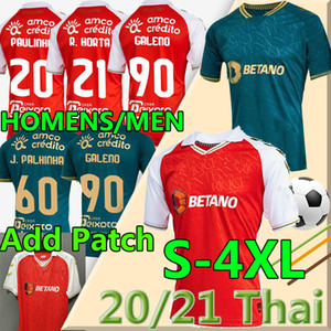 4xl SC Braga Soccer Jerseys 2020 2021 Sporting Clube de Braga Camisetas de fútbol Galeno Paulinho R.Horta Medeiros Castro Ricardo Esgio Hombres UNI