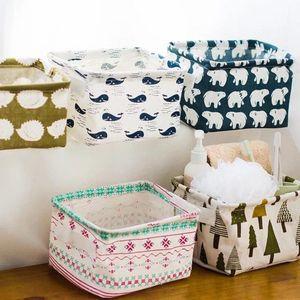 Bureau de rangement pliable Mêle Sous Toy Boîte de rangement cosmétiques Book Organizer Papeterie Container Panier à linge BWC1771