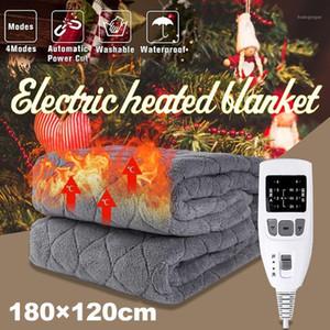 220-240V 180 * 120 / 80cm Microplush macio Aquecedor de microplush elétrico Cobertor térmico 220V lavável Overblanket com UniversalPlug1