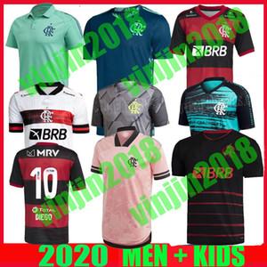 2020 Camisa Flamengo Outubro Rosa Soccer Trikots 2021 Camisetas de Fútbol Gabriel B. Diego 20 21 Pedro Gerson Rosa Männer Kinder Fußballhemd