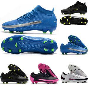 New football shoes Phantom GT FG Daybreak Pack Elite Low Academy Dynamic Fits Black Pink Blast Royal Blue soccer cleats mens scarpe calcio
