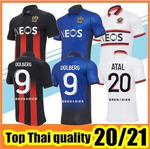 20 21 maillot de foot OGC Nice Fußball Jersey 2020 2021 Olympique Gymnaste Club de Nizza Fußball-Hemd Bewegung de foot Shirts