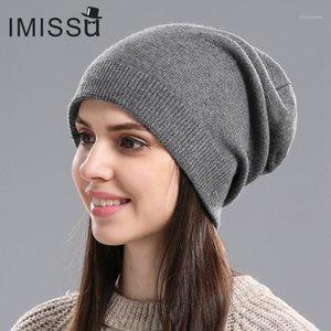 Imissu Design Moderne Herbst Winter Hüte Unisex Gestrickte Echtwolle Mütze Solide Farben Ski Gorros Casual Caps Warme Muts Hat1