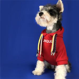 Trendy Brand Pet Hoodies Dreadlocks Plus Velvet Pet Sweater Dog Coats Autumn Winter Coats Teddy Schnauzer Bomei Pug Clothing