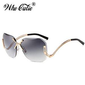 Кто Cutie 2020 прозрачный RIMLENT TINT CLEAR Pilot Солнцезащитные очки Женщины отрезали безрамные солнцезащитные очки оттенки окуло OM355