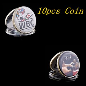 10pcs Free Shipping Rare Muhammad Ali Proof Coin Mint Condition WBC Boxing Token Coin Collectibles