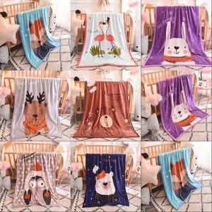 Kids Blankets Flannel duck Cat dogs  styles Warm cartoon Blankets Smooth Flannel Blankets Baby Bedding Swaddling Blanket 100*140cm 108 J2