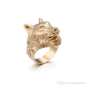 Hip Hop Stainless Steel Ring Fashion Wolf Head Design Personalit Ring New Style Hip Hop Jewelry