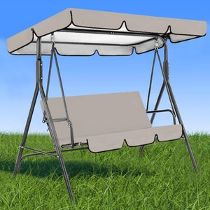 Waterproof Top Cover Canopy Replacement for Garden Courtyard Outdoor Swing Hammock Canopy Swing Chair Awning Seat + Top Cover