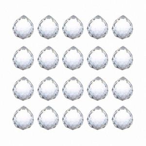 20 milímetros Limpar Feng Shui Crystal Ball Prismas Pendant Suncatcher Hanging facetada Prism Balls, embalagem de 20 ornamento Venda Onlin 9VGF #