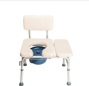 Personas mayores de aluminio multifuncional personas con discapacitados personas embarazadas Mujeres de la silla de la silla de la silla blanca cremosa