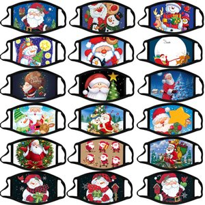 adulte Noël Calico masque masques en coton lavable anti-buée couleur dessin animé masque de Noël masque facial Masques partie des masques de design de mode