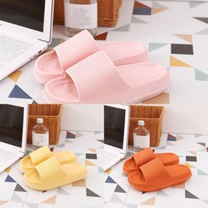 ic8ur s Designer Slip Slippers Newest Slides Desinger Home Furnishing Summer Thick Bottom Pure Color Mens Flip authentic leather Couple