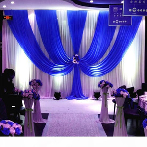 3M*6M wedding backdrop with swags backcloth Party Curtain Celebration Stage Performance Background Satin Drape wall valance