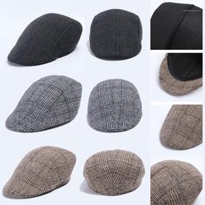 Men Women Houndstooth Retro Hats Casul Breathable Winter Warm Comfort Beret #351
