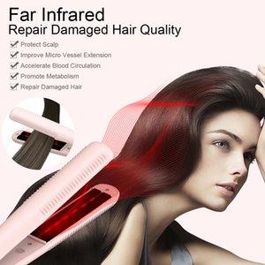 Anlan infrarrojos profesionales plancha de pelo Negativo iónicos plancha de pelo de cerámica plana Irons rápido alisamiento de hierro