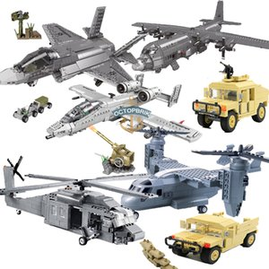 75073 estrella Ejército Tanque Helicóptero Camión Bloques de construcción Base Militar Base War Vehicle Toys Toys Compatible 60123 75901 F-22 Raptor X0102