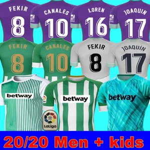 Man + Kids 20 21 Real Betis Football Jersey Joaquin Loren Boudebouz Bartra Home Away Training Training Suit Canales تذكارية الطبعة Fekir 8