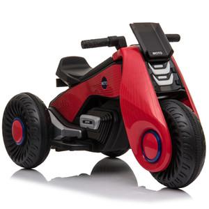 Детский электрический мотоцикл 3 Колеса Двойной привод Красный Черный Розовый Белый Материал корпуса Пластик PP подарок для детей