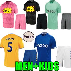 Bambini adulti James Richarlison Rodriguez 2020 2021 Pink Soccer Jerseys Sigurdsson Gbamin André Gomes 20 21 Casa Away Camicia da calcio portiere