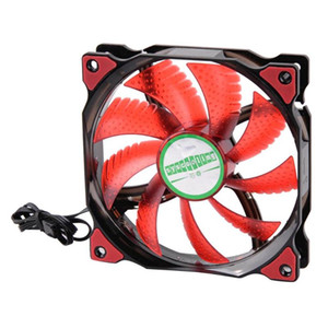 Ultra Silent PC Box Cooler Fan Practical Portability 120mm 4-LED Lights 12V Computer Case Cooling Fan Water-cooled Fittings