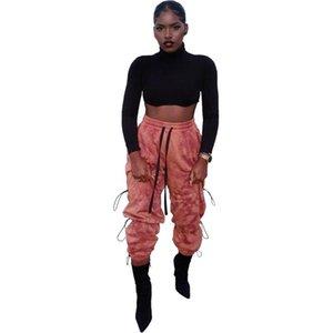 Hohe Taille Sweatpants Frauen Winter Streetwear Elastische Kordelzug Gotische Harajuku-Hose schwitzt Lose Beiläufige Sporthosenhose