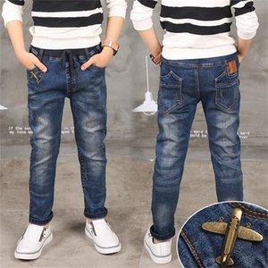 Boy Jeans Limited Follow Solid Casual для осенних мальчиков джинсов, детских модных джинсов, для возраста 3 4 5 6 7 8 9 9 10 11 12 13 14 лет 201207