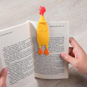9 Styles Cute Animals Angry Chicken Carrot Bookmark Kawaii Silicone Bookmarks For Books Promotional Gift Stationery Bookmark1