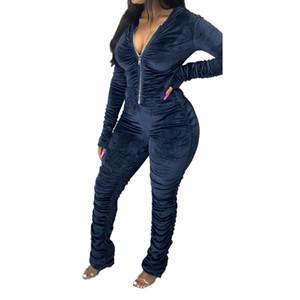 Sexy женщин Rompers Мода Soild цвета с капюшоном женщин Комбинезоны штабелях дизайнер с молнией Женская одежда