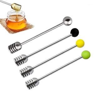 304 aço inoxidável mel colher melitar stick para frasco suprimentos eco-friendly Long Handle Mixing Bar Ferramentas de sobremesa # 1