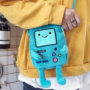 INS Hot Finn Jake Figura Crossbody Swag Rap Plush Coin Phone Anime Advanture Robert BMO Borsa giocattoli per bambini 201021