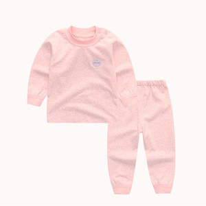 Baby Underwear Set Cotton Childrens Autumn Clothes Long Pants Warm 1-3 Years Old Boys and Girls Pajamas Spring and Autumn Baby Clothes