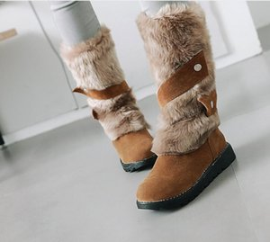 New boots in Europe and the United States women ankle knee high leather platform shoes ladies girls snow winter boots warm classic sneakers1