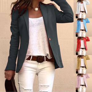 Neue Mode 2021 Designer Blazer Jacke Frauen Revers Cloak Lange Mantel Blazer Damen Casual Slim Office Anzug Outwear # G40