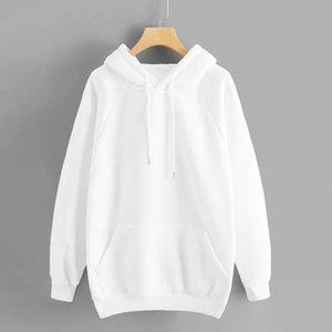 Hoodie Sweatshirt Jumper Blouse Women's Casual Solid Color Hooded Pocket Long Sleeve Pullover Sweatshirt Outwear Blouse sudadera