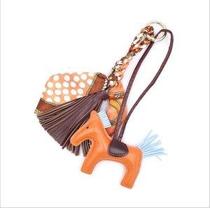 Корейские шелковые шарфы, кисточка и луки, кожа кисточка кулон, висящий стиль, персонализированные аксессуары, лошадка мешок подвеска