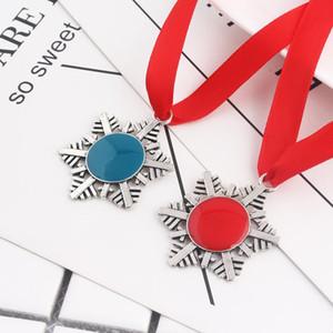 Catena Decorazione di Natale magico di Babbo Natale del fiocco di neve del pendente di chiave Xmas Tree ornamenti regalo collana fai da te DWF2563 Gioielli