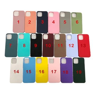Coque de téléphone coloré pour iPhone 12 11 PRO Max XS XR 8 7 6 Plus SE 2020 TPU Couverture de protection antichoc protectrice
