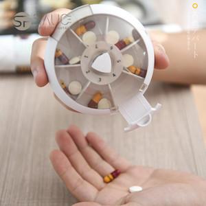 20201101 Rotating Portable Mini Caixa de Medicina de Viagem 7 dias por semana