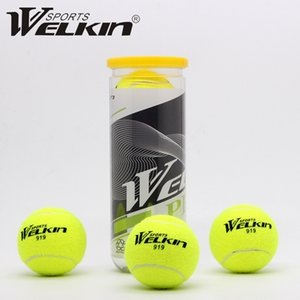 WELKIN 3Pcs Pack Elastic Rubber Tennis Ball Resilience Durable Tennis Practice Ball School Fun Club Competition Training Ball 201116