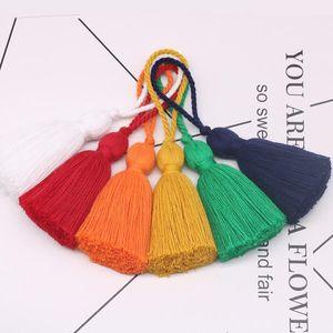 Baumwolle Quaste 8 cm Hängende Seil Fransen Quaste Für Nähvorhänge Kleidungsstück Home Decoration Schmuck Handwerk Zubehör 5 stücke Lot H Jllfqk