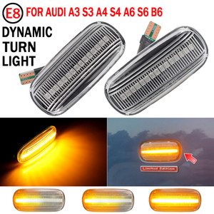 Led Dynamic Side Marker Turn Signal Light Sequential Blinker Light Emark For Audi A3 S3 8P A4 S4 B6 B7 B8 A6 S6