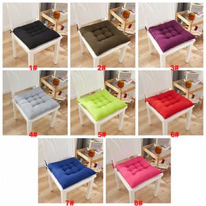 Addensare Home Seat Cushion Pad 40x40cm Quadrato Square Soft Ufficio Bar Sedia Cuscini Sedile Sedili Solido Color Color Pillow Glutei Cuscino cuscino VT1985