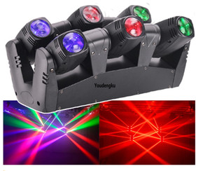4 pcs lyre led wash beam 6 x 10 rgbw 4 in1 beam led moving head dmx512 rgbw 6 eyes led spider beam light