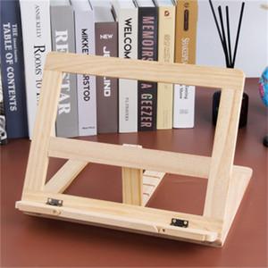 Hölzerner Buchständer Halter Einstellbare Tragbare Holzschuhe Laptop-Tablet-Studie Kochrezept-Rezept-Bücher-Ständer-Desk-Schubladen-Organisatoren 41 K2