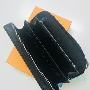 Zippy XL CÜZDAN Fransa Tasarımcı Erkekler Smartphone Pasaport Anahtar Tutucu Kredi Kartı Nakit Cüzdan Damier Tuval Tayga Deri Üst Qualityct03