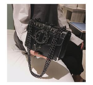 HBP European Fashion Weibliche Square Tasche 2021 Neue Qualität PU-Leder Damen Designer Handtasche Nietsaft-Kette Schulter Messenger Bags